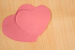 重点纸粉红色 图库摄影