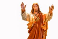 重点耶稣神圣的雕象 免版税图库摄影