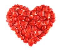 重点草莓 图库摄影