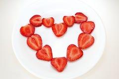 重点草莓 免版税库存照片