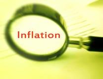 重点通货膨胀 图库摄影