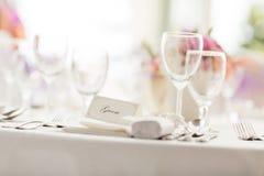 重点玻璃表婚礼 免版税库存图片