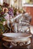 重点玻璃表婚礼 图库摄影