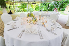 重点玻璃表婚礼 免版税库存照片