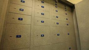 贵重物品保险库衣物柜,有保管箱的,存放框室 股票视频