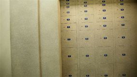 贵重物品保险库衣物柜,有保管箱的,存放框室 股票录像