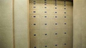 贵重物品保险库衣物柜,有保管箱的,存放框室 影视素材