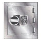 贵重物品存贮的金属保险柜。 向量例证