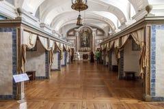 重病的医疗所。Mafra全国宫殿、女修道院和大教堂 库存图片