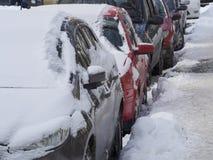 重的冬天在布加勒斯特 库存照片