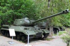 重的坦克IS-2M模型1944年根据武器装备exhibi的苏联 免版税库存照片