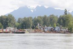 重的工业河产业 库存照片