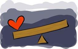 重的心脏概念 免版税库存图片