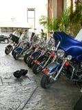 重的摩托车排队 免版税库存照片