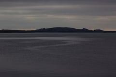 重的沉重海和海角在多暴风雨的天气 免版税库存照片