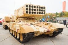 重的火投掷的TOS-1A系统 俄国 免版税图库摄影