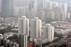 重的烟雾在北京 免版税库存图片
