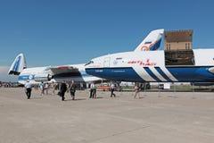 重的航空器 免版税库存照片