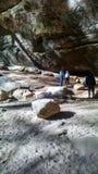 重的被遮蔽的岩石 免版税图库摄影