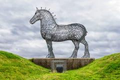 重的马,格拉斯哥,苏格兰 免版税库存图片