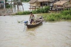 重的洪水在曼德勒,缅甸 免版税图库摄影