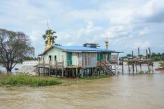 重的洪水在曼德勒,缅甸 免版税库存图片