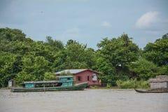 重的洪水在曼德勒,缅甸 图库摄影