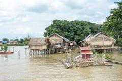 重的洪水在曼德勒,缅甸 免版税库存照片