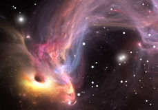 重的黑洞引人入胜的气体和尘土从  库存照片