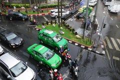 重的暴雨充斥曼谷 库存照片