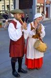 重立法新法兰西时代的人们 免版税库存照片