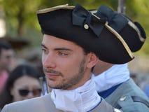 重立法新法兰西时代的人们 免版税库存图片