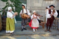 重立法新法兰西时代的人们 库存照片