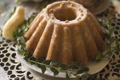重糖重油蛋糕,复活节传统蛋糕 免版税库存图片
