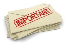重要信件(包括的裁减路线) 免版税库存照片