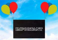 重要公告概念 免版税库存图片
