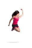 重要和运动女孩跳 库存照片