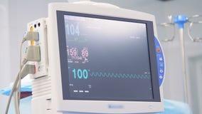 重要标志和心电图显示在显示器 股票视频