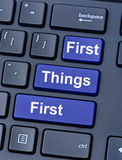 重要的事先来在键盘 库存图片