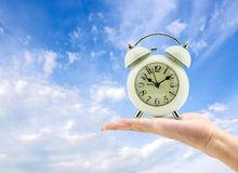 重要的商人时钟概念保留时间工作 库存照片