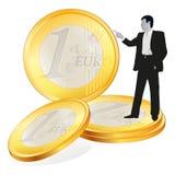 重要的商人铸造欧元四 向量例证
