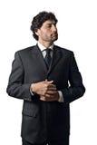 重要的生意人非常 免版税库存图片
