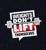 重量唐` t推力  健身房锻炼和健身富启示性的刺激行情 创造性的体育印刷术 皇族释放例证