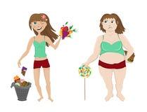 重量增加,减重,妇女 图库摄影