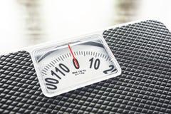 重量标度饮食营养概念 免版税库存照片