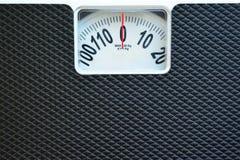 黑重量标度 免版税图库摄影