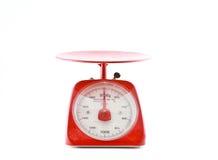 重量评定平衡查出的空白背景 免版税库存图片