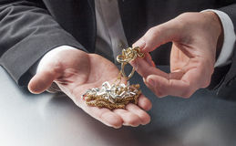 贵重金属的事务 免版税图库摄影