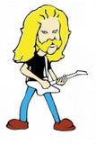 重金属的吉他演奏员 免版税库存图片