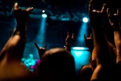 重金属的音乐会 免版税库存照片